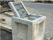 落ち蓋式U形側溝桝